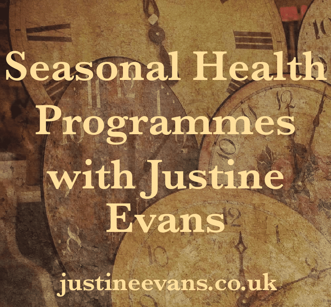 seasonal health programmes 2018 with Justine Evans
