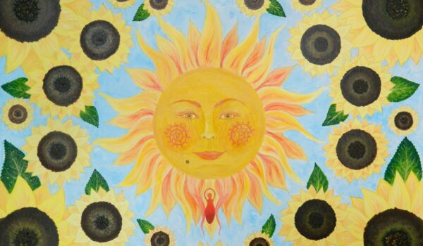 Touched by the Sun - artwork by Sam Foreman and part of the creation Fertility Toolkit #fertilityinspiration